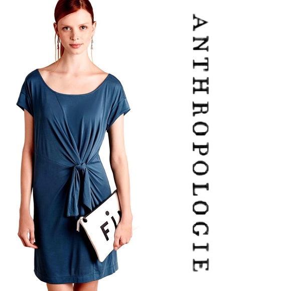 ad590055a0 Anthropologie Dresses   Skirts - Anthropologie Side Tie Shift Dress